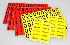 EF - Etiquetas autocolantes refletoras