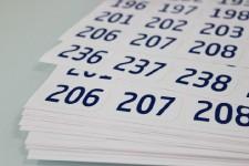 Etiquetas numeradas